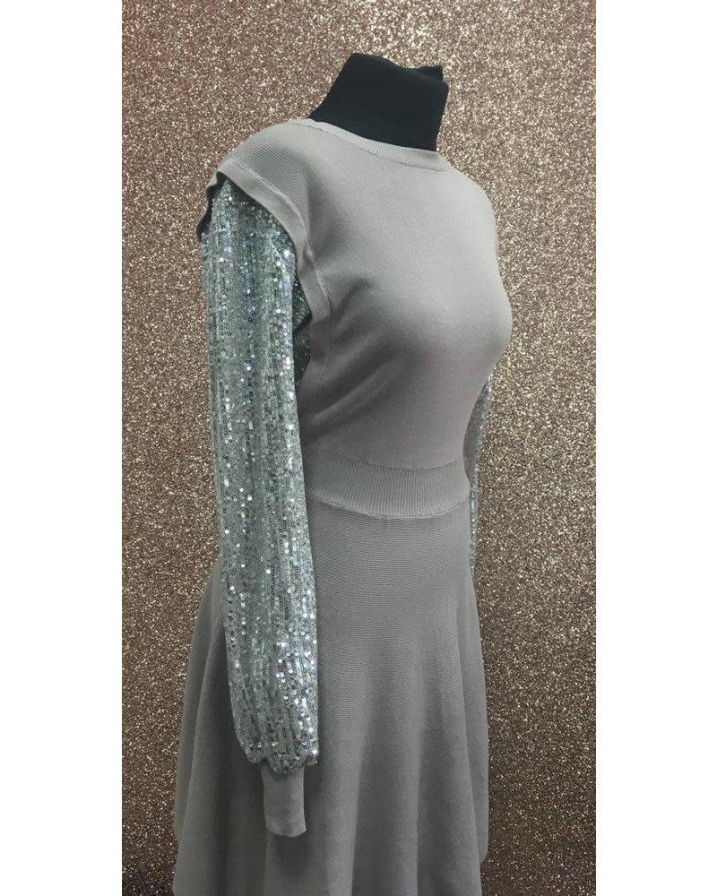 Sally sequin arm dress