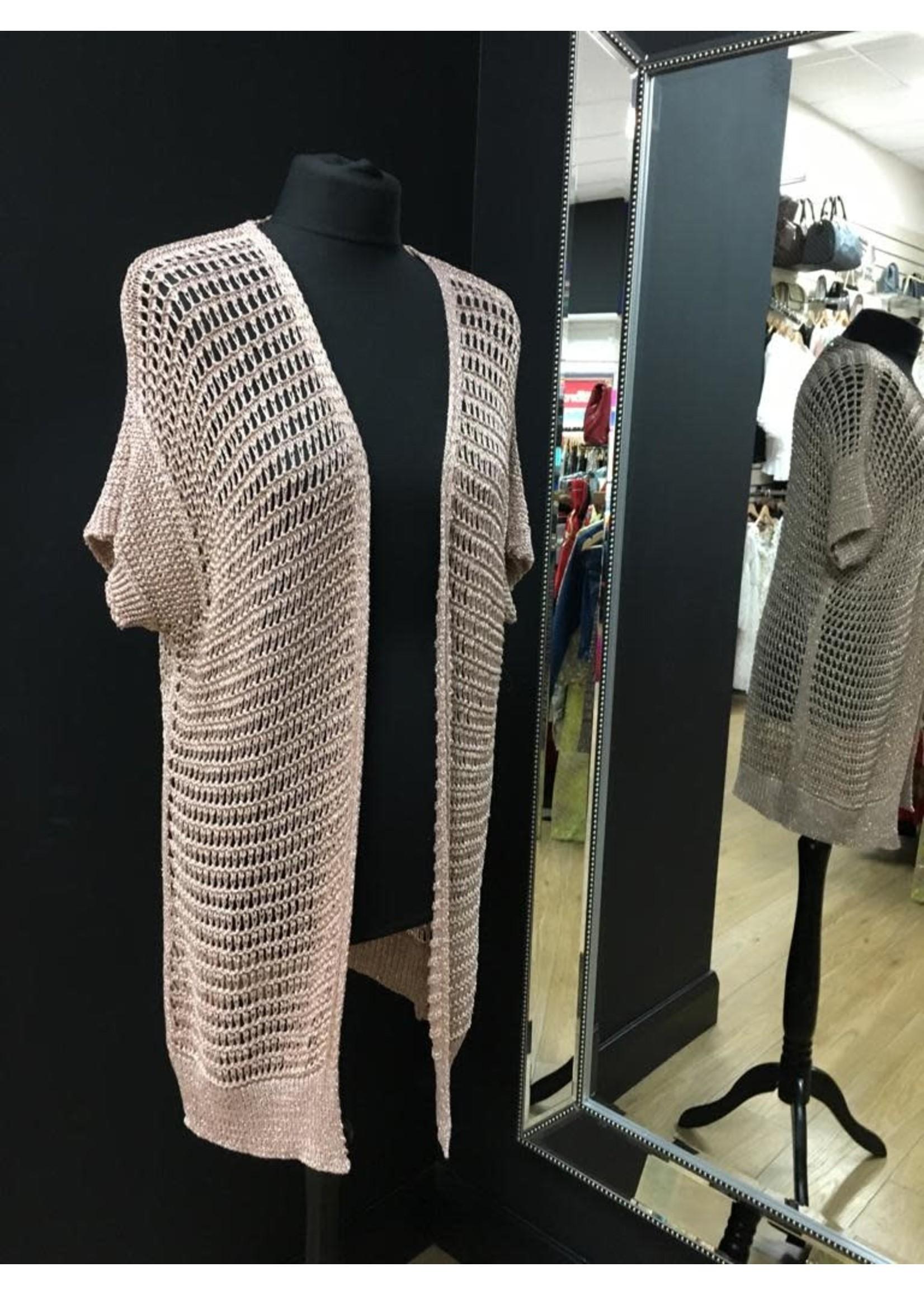 Sophie Metallic short sleeve cardigan