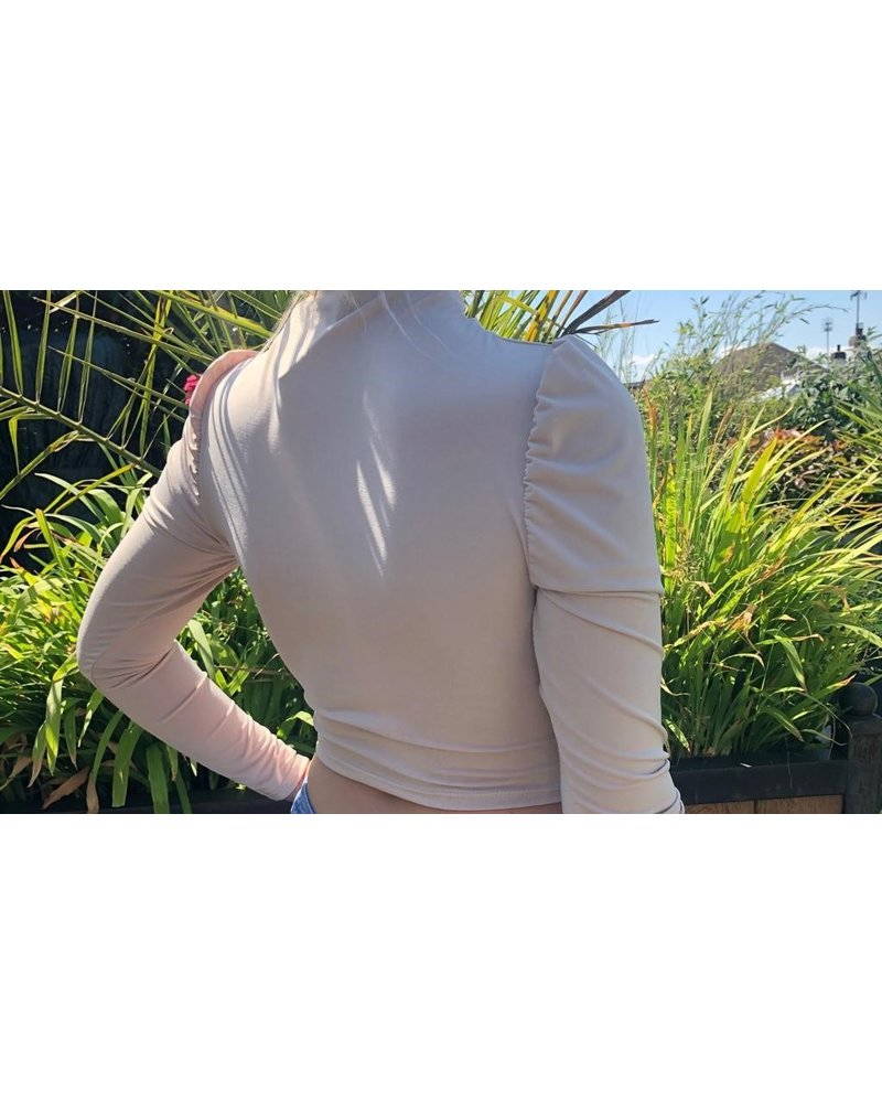 Rita rouched long sleeve crop top