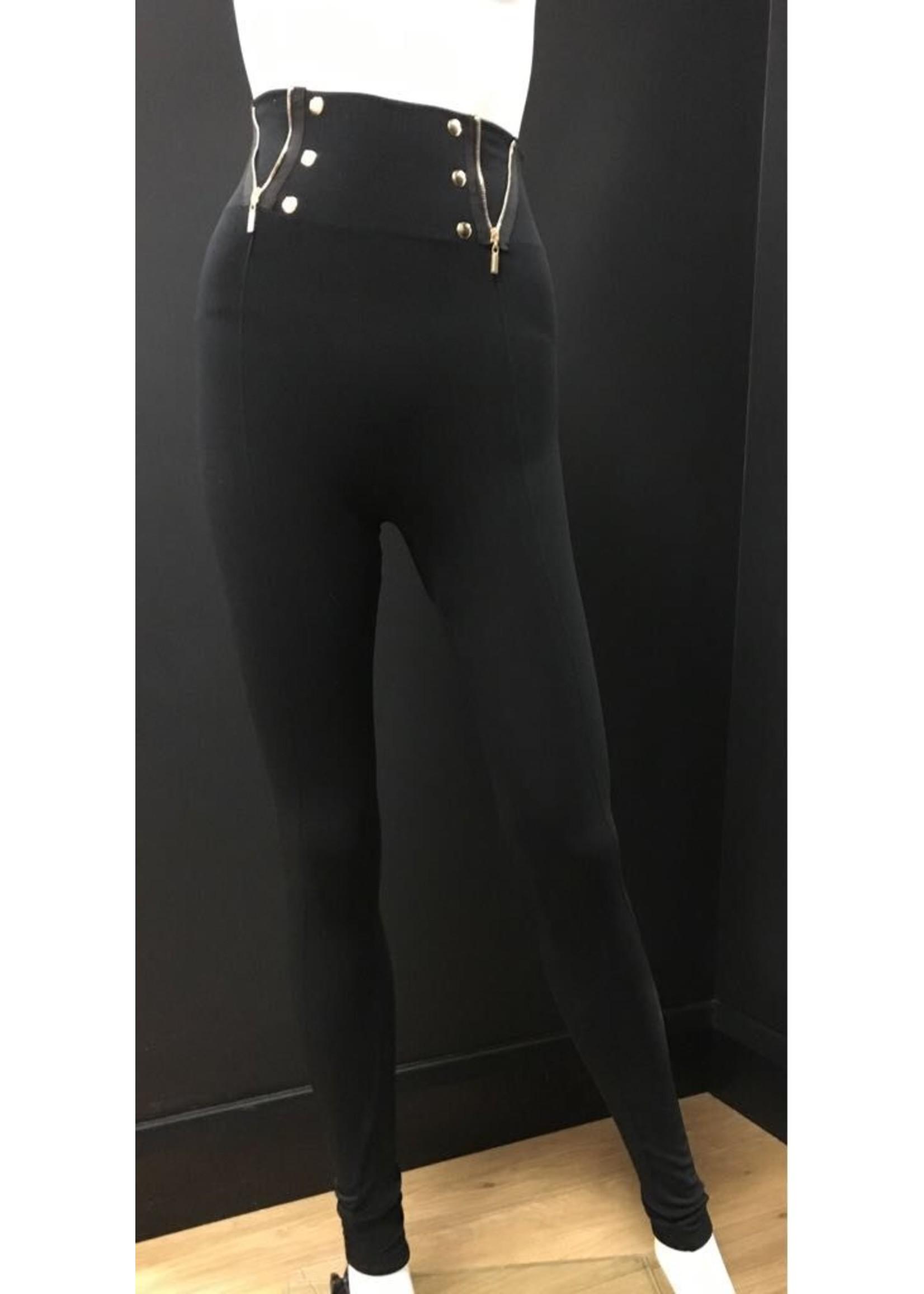 Zip & Button Everyday Leggings