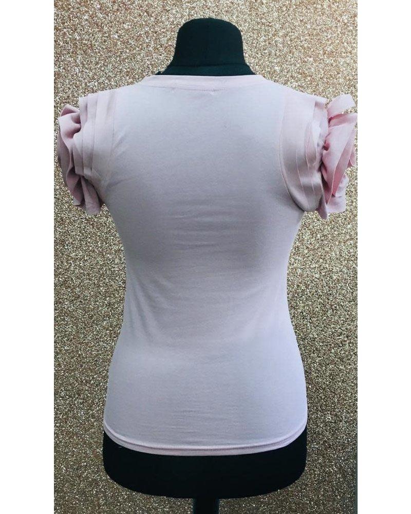 Rosie rouche sleeve t-shirt