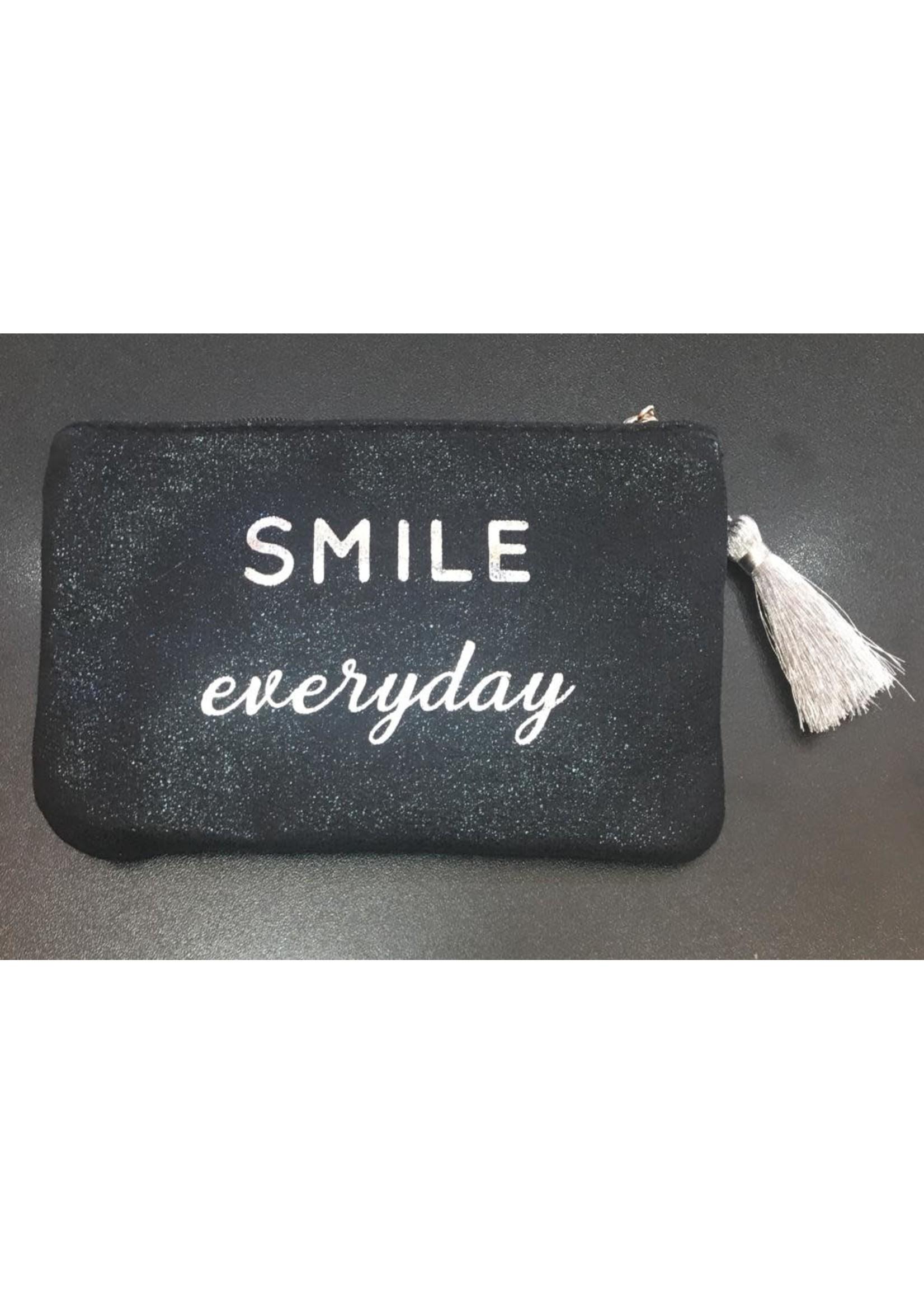 Smile everyday glitter purse