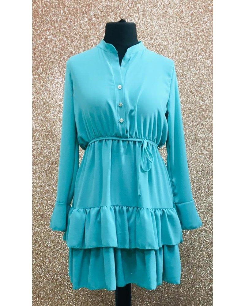 Lily tiered shirt dress