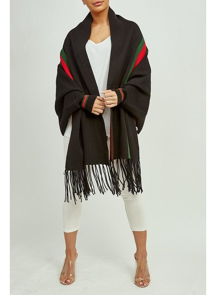 Gina sleeved shawl