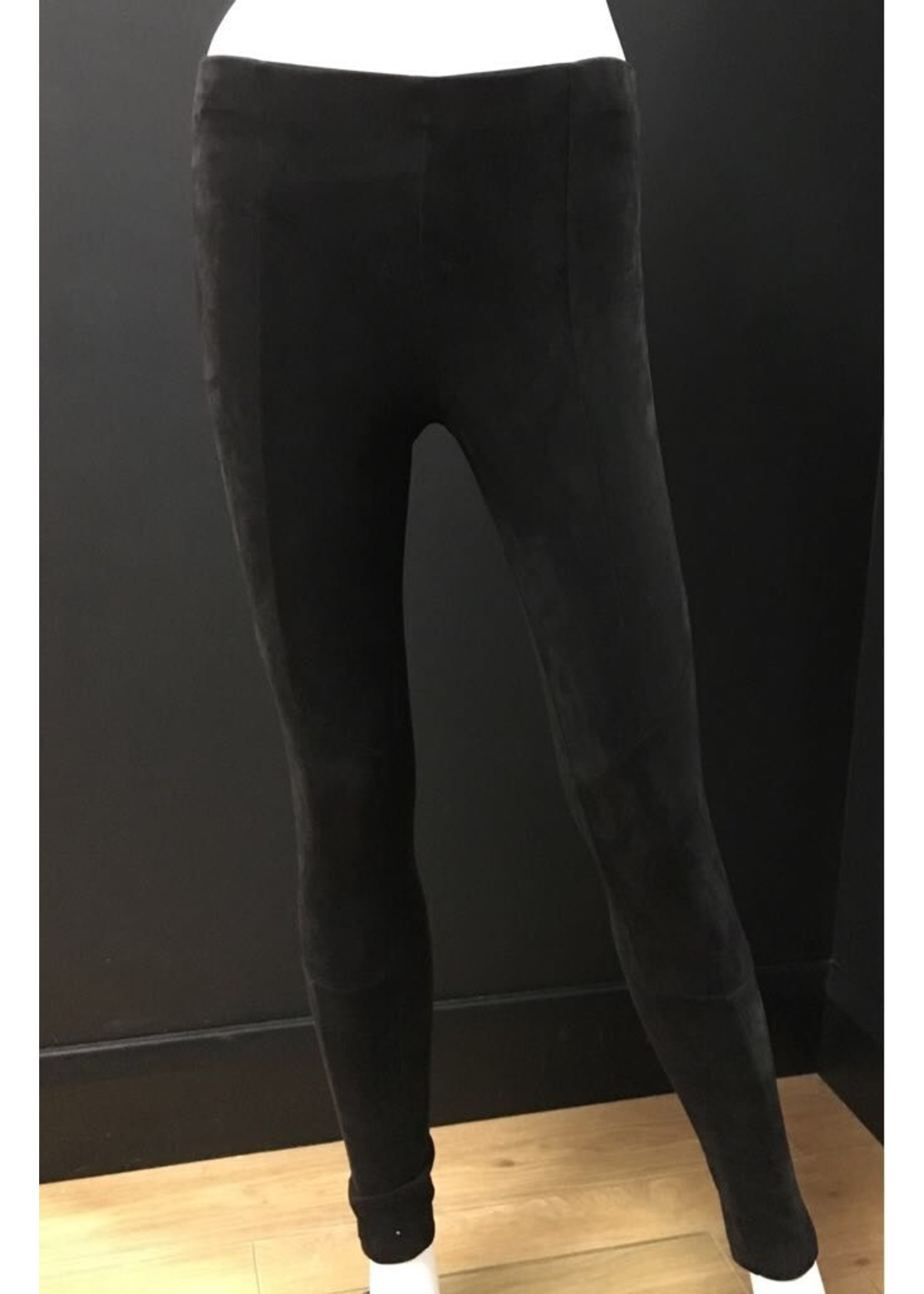 Faux suede leggings