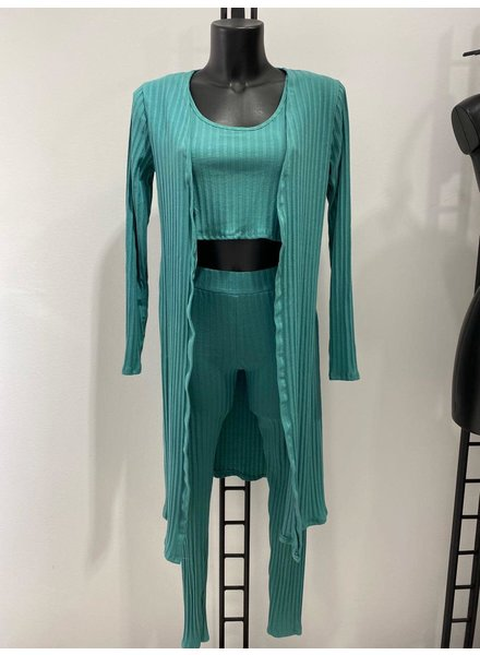 Rina Ribbed 3 piece suit