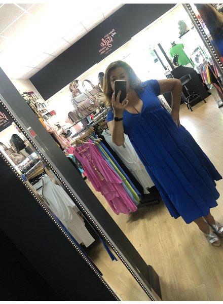 Long v neck Shannon swing dress