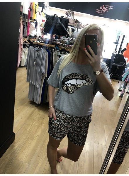 Leopard lips short set