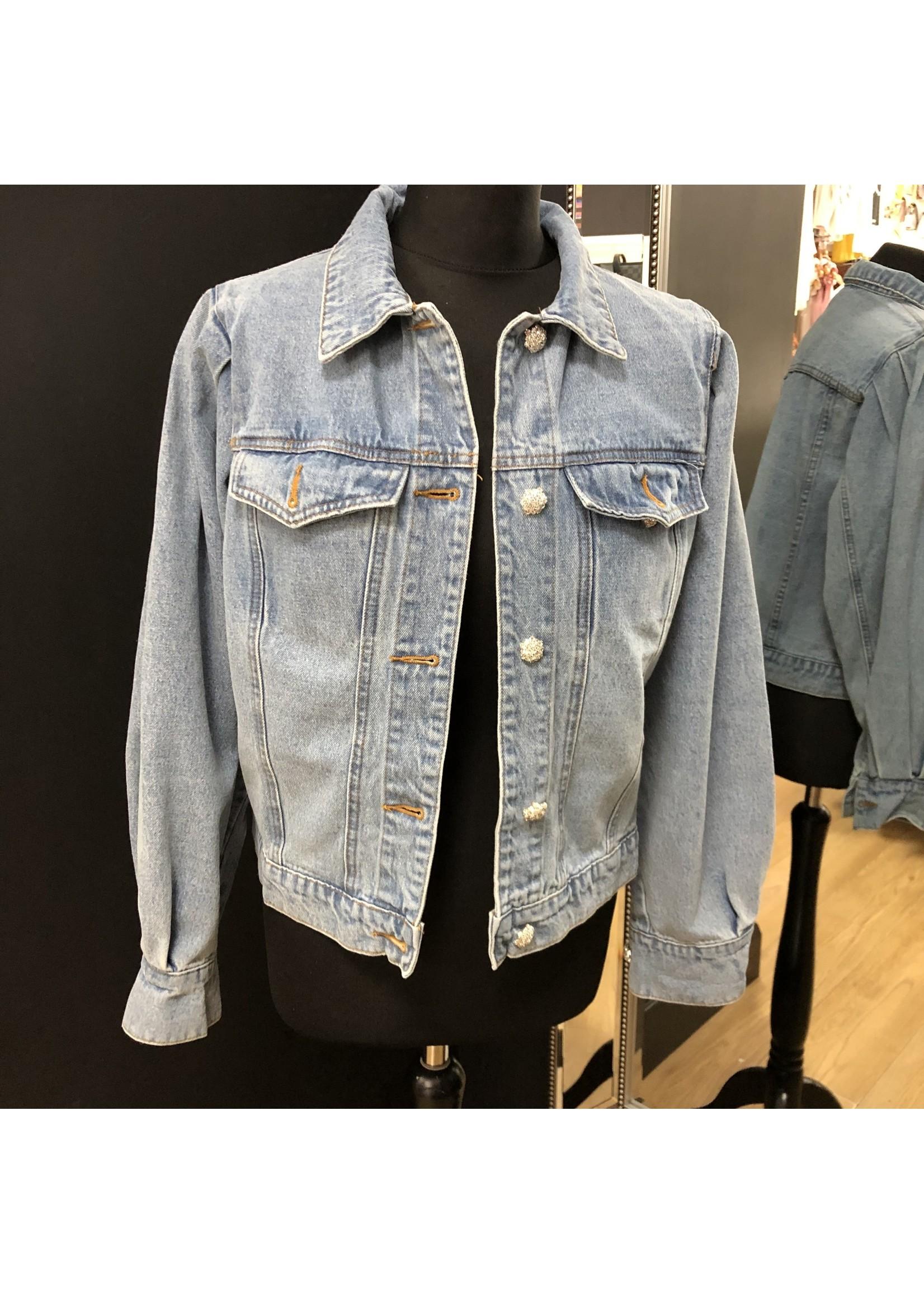 Polly puff sleeve denim jacket