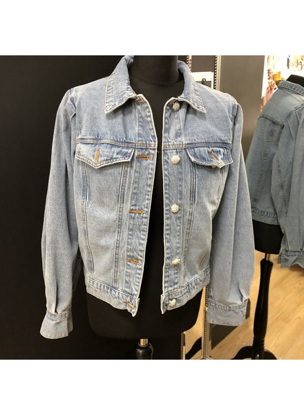 Polly puff sleeve denim jacket