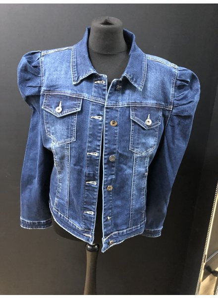 Petra puff sleeve denim jacket