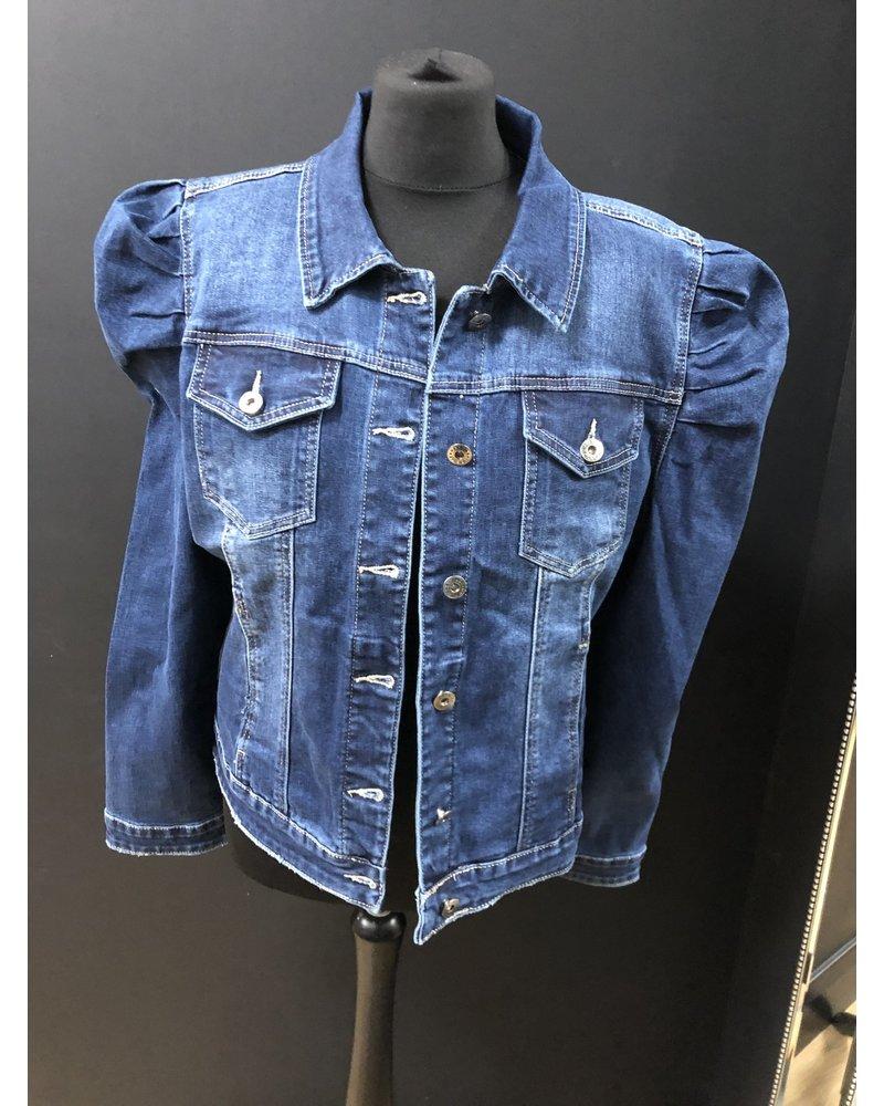 Petra puff sleeve denim jacket