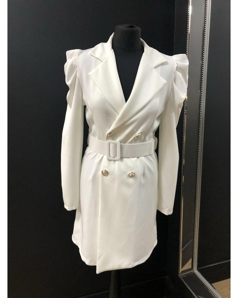 Georgie puff sleeve blazer dress