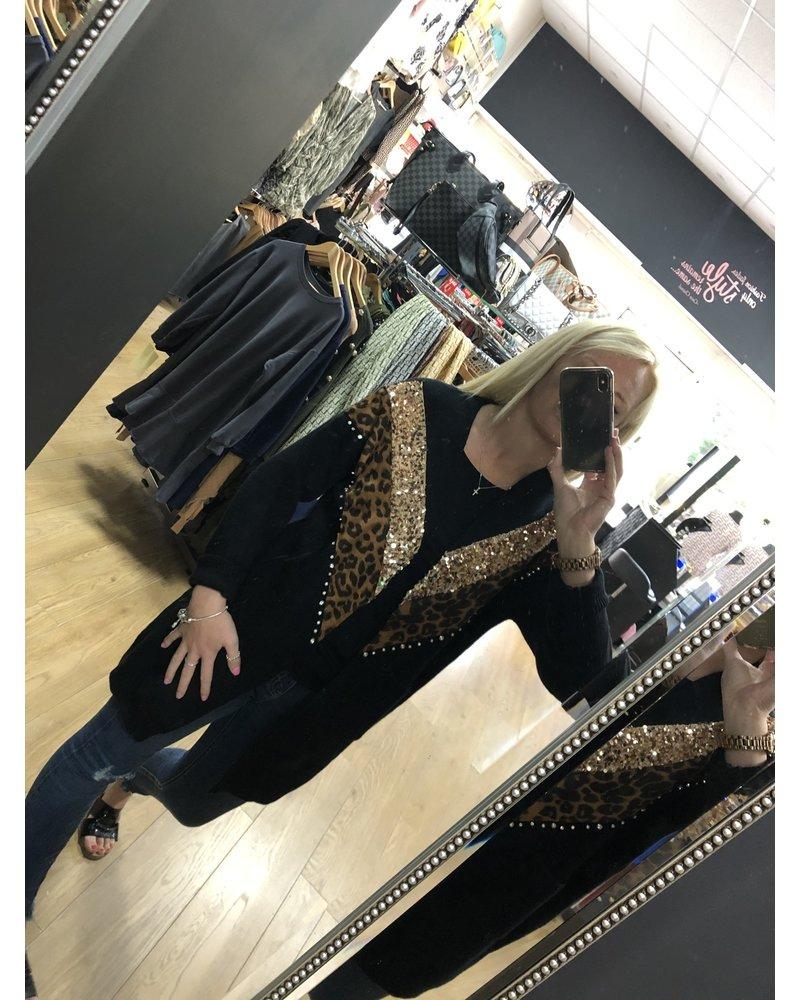 Leonie leopard Cardigan