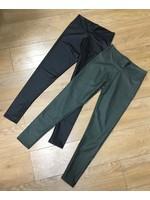 Matt faux leather leggings
