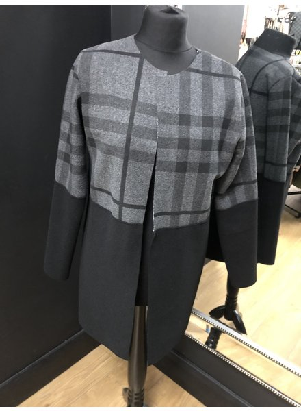 Classic check edge to edge jacket