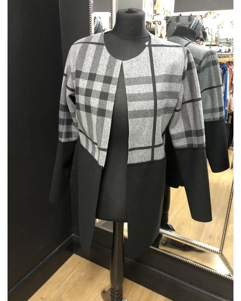 Classic check edge to edge jacket