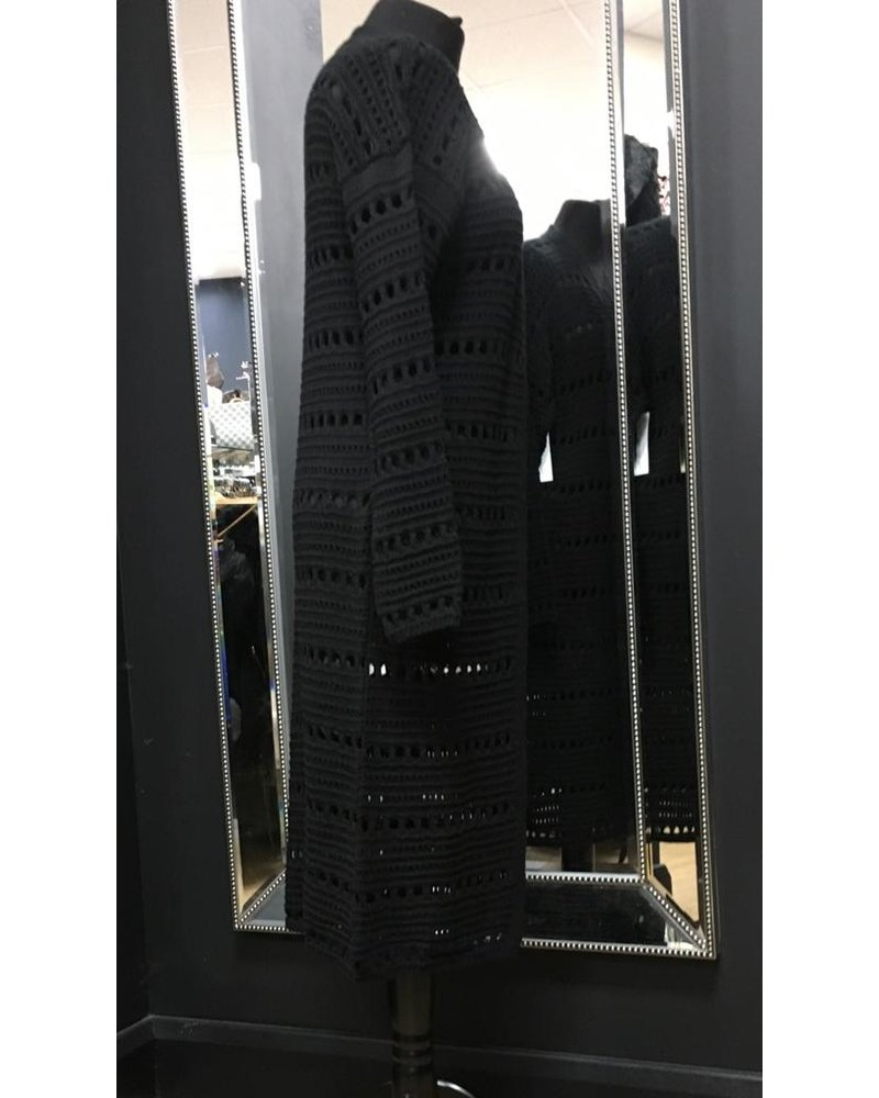 Harper crochet long line cardigan