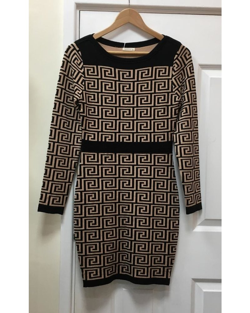 Fenella bodycon knitted dress