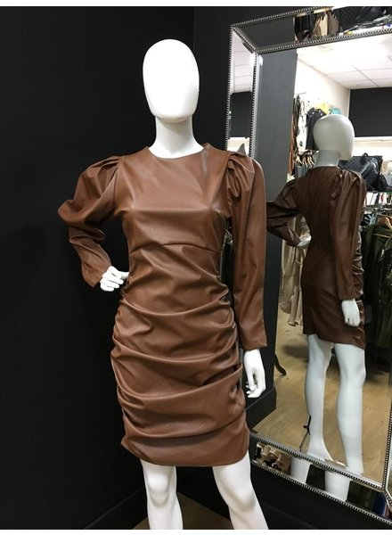 Francesca faux leather dress