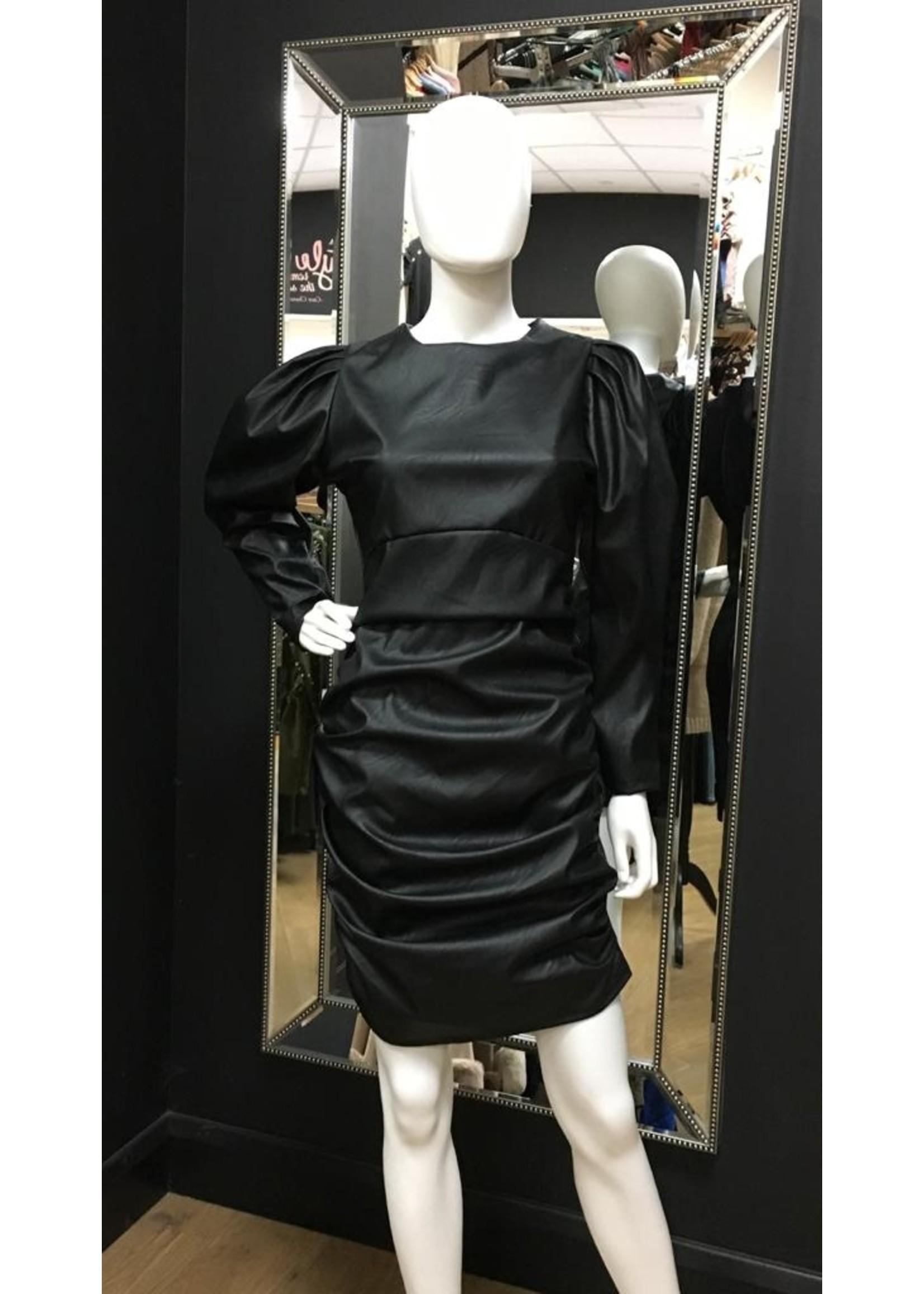 Francesca faux leather dress