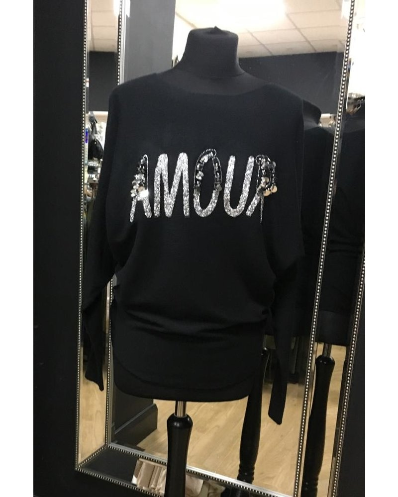 Amour sequin and glitter jumper