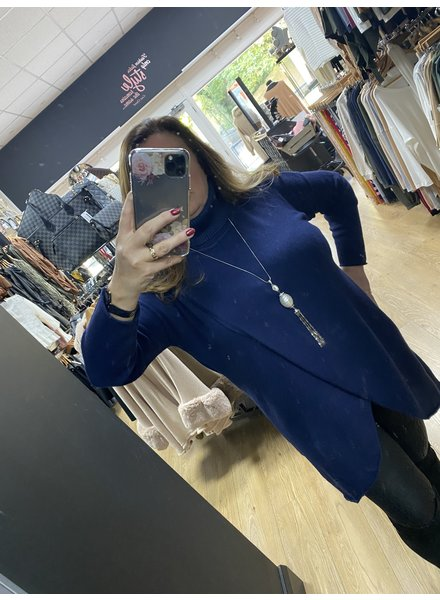 Karis crossover roll neck jumper  dress