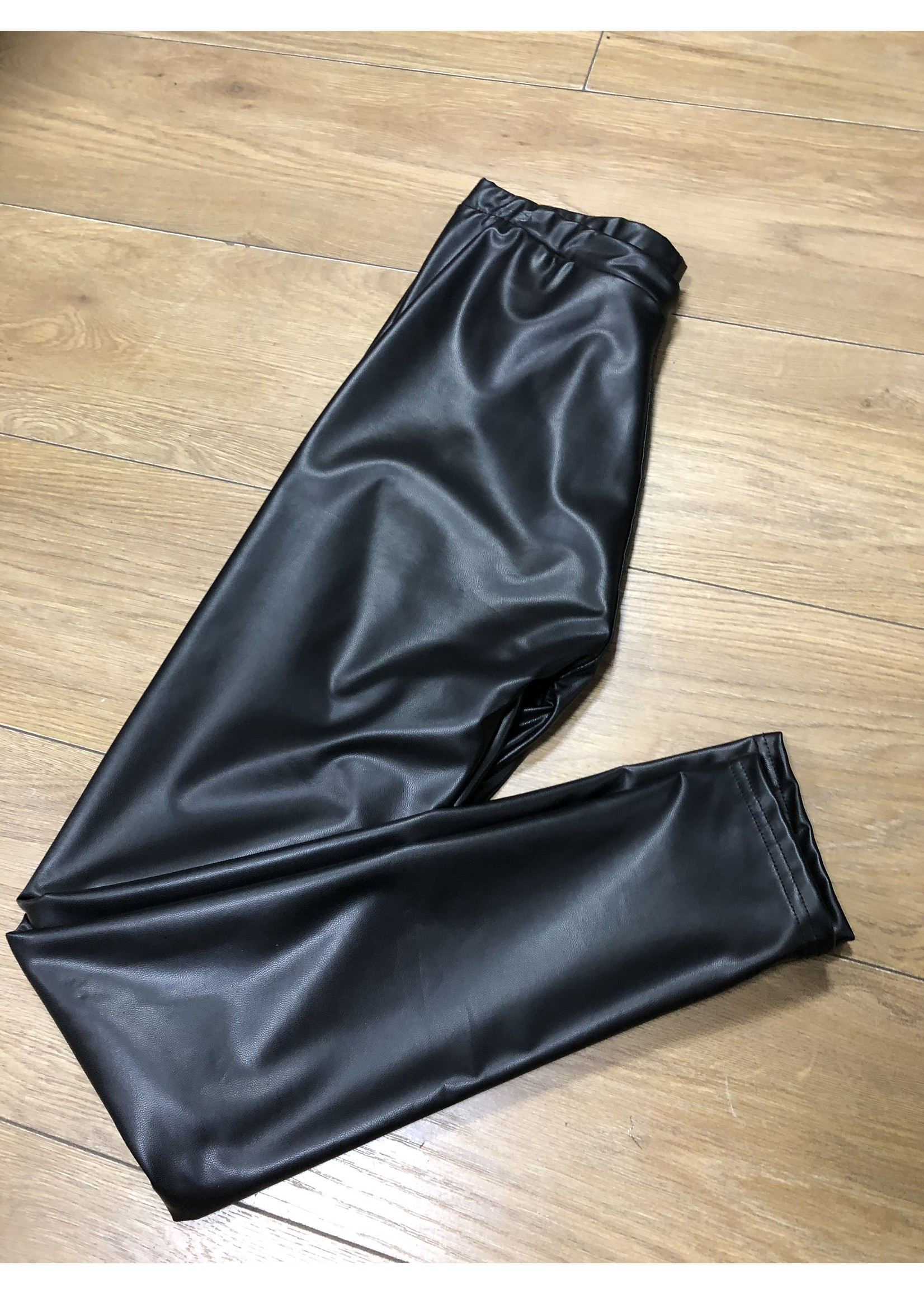 Charley Leather look trousers