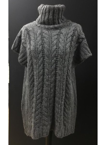 Keeley knitted sleeveless roll neck jumper