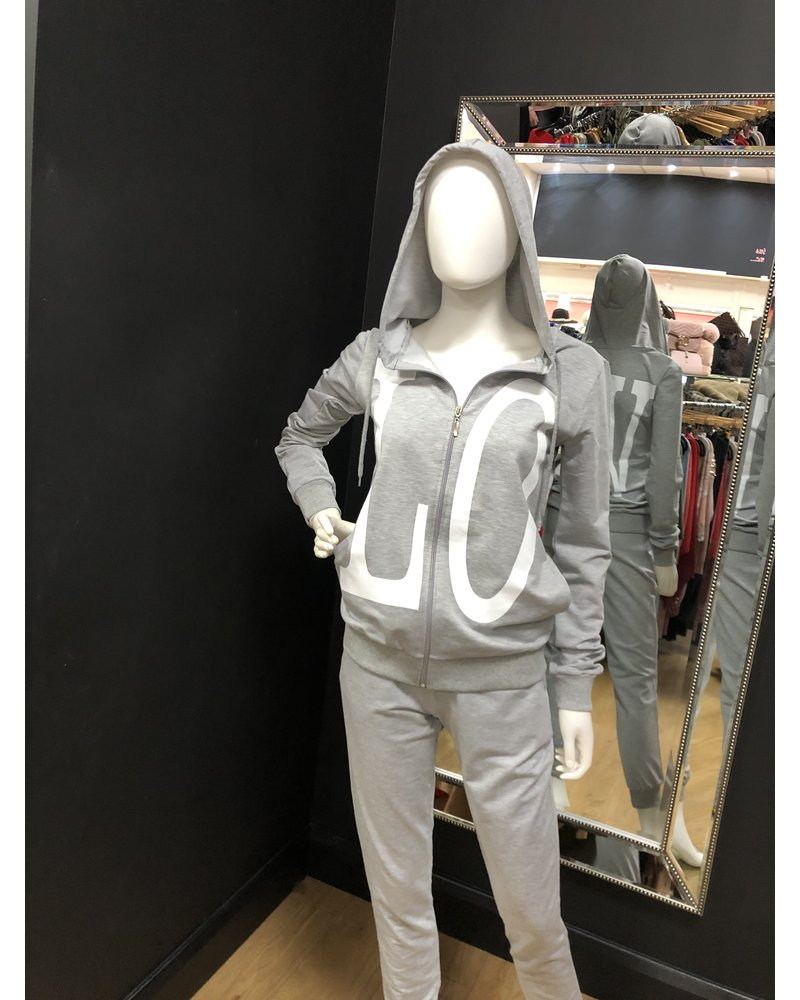 LOVE hooded lounge suit
