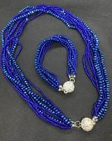 Crystal and diamanté necklace and bracelet set
