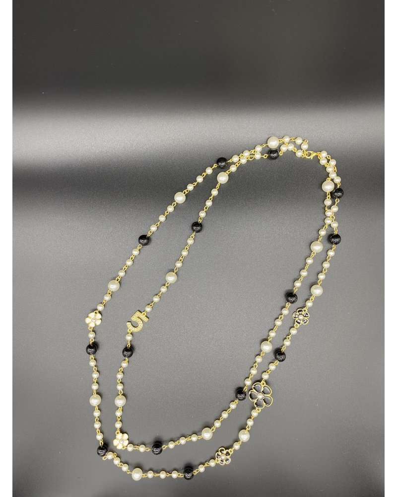 No. 5 double strand necklace