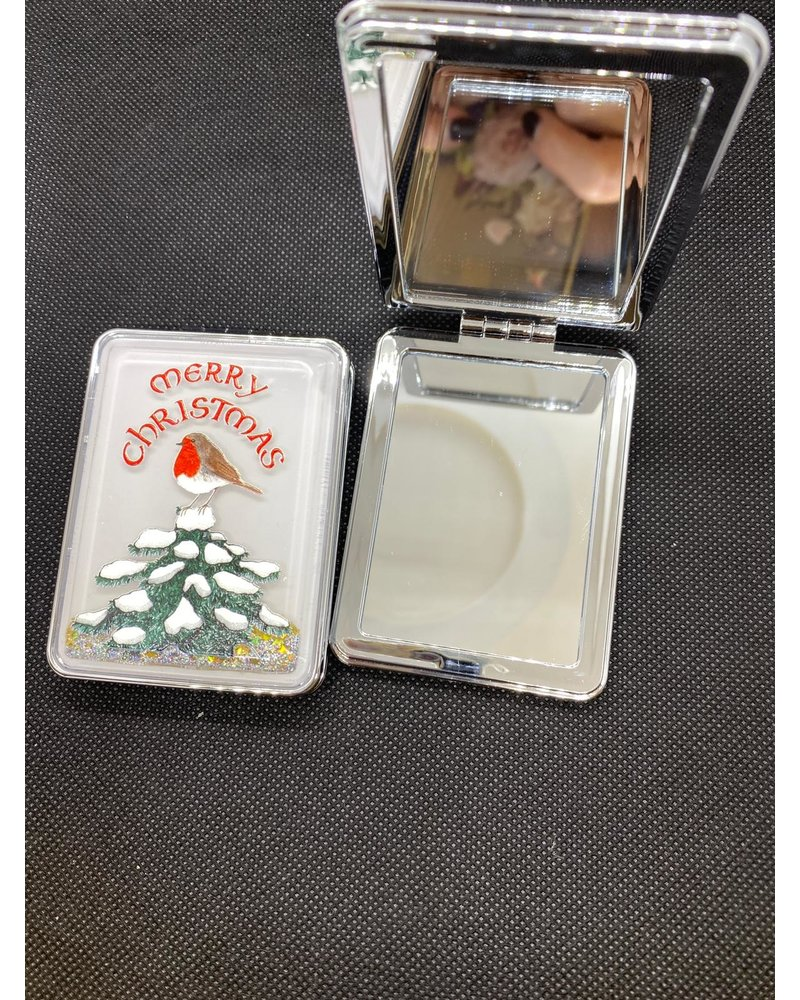 Xmas compact mirror
