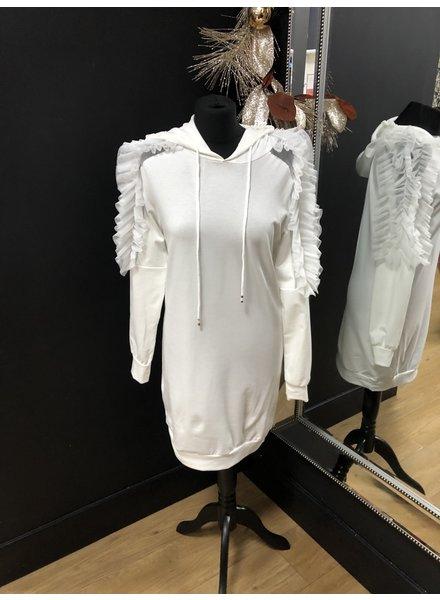 Elsa frill hooded sweatshirt dress