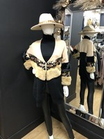 Verity faux fur sleeve coatigan