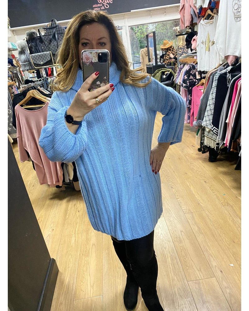 Lucy roll neck jumper dress