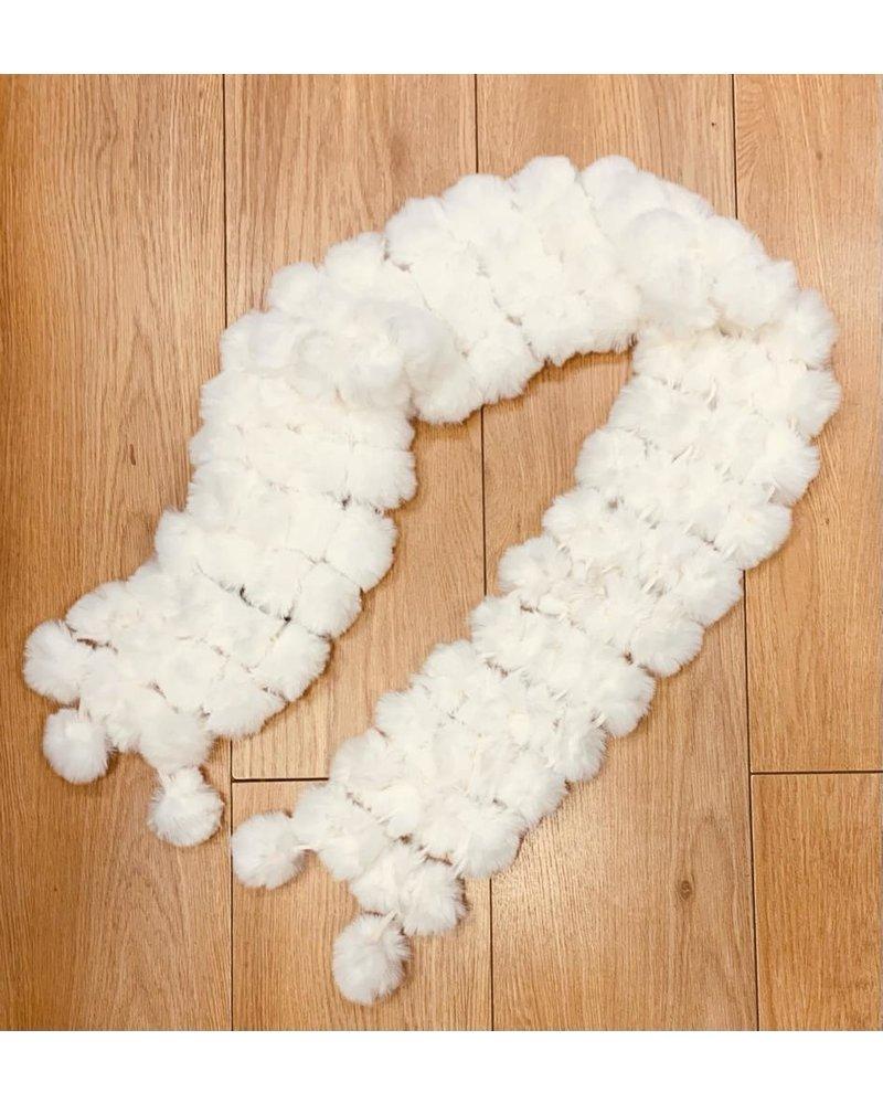 Luxury faux fur Pom Pom scarf