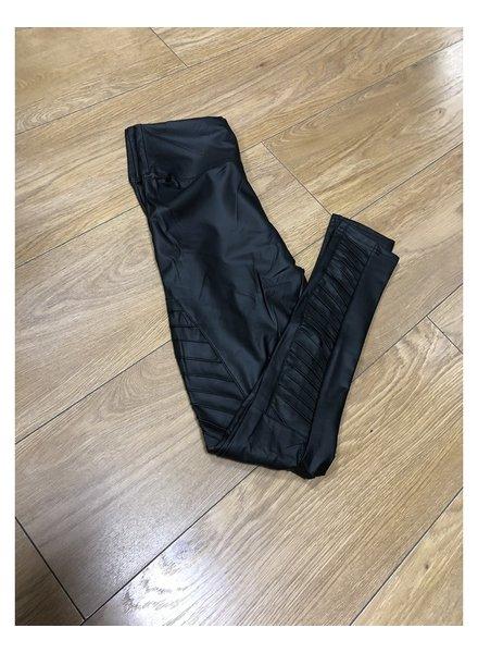 Biker faux leather leggings