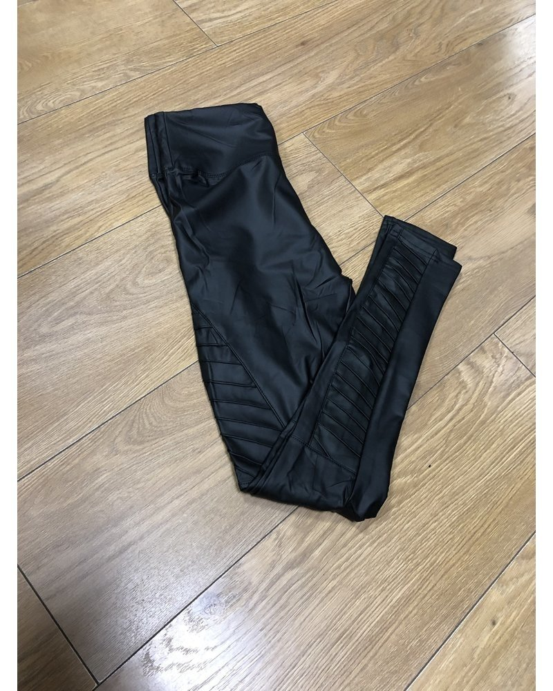 Biker faux leather leggings