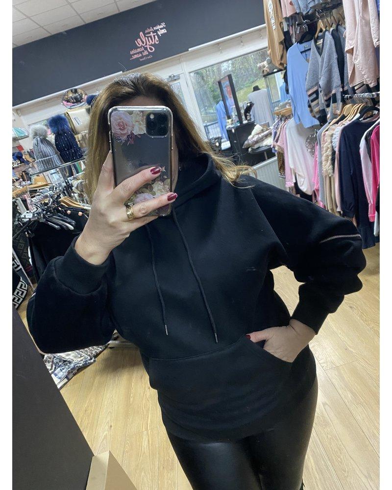 Tisha detachable sleeve hoody