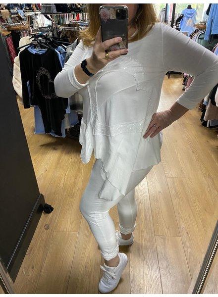 Sienna Sequin heart lounge suit