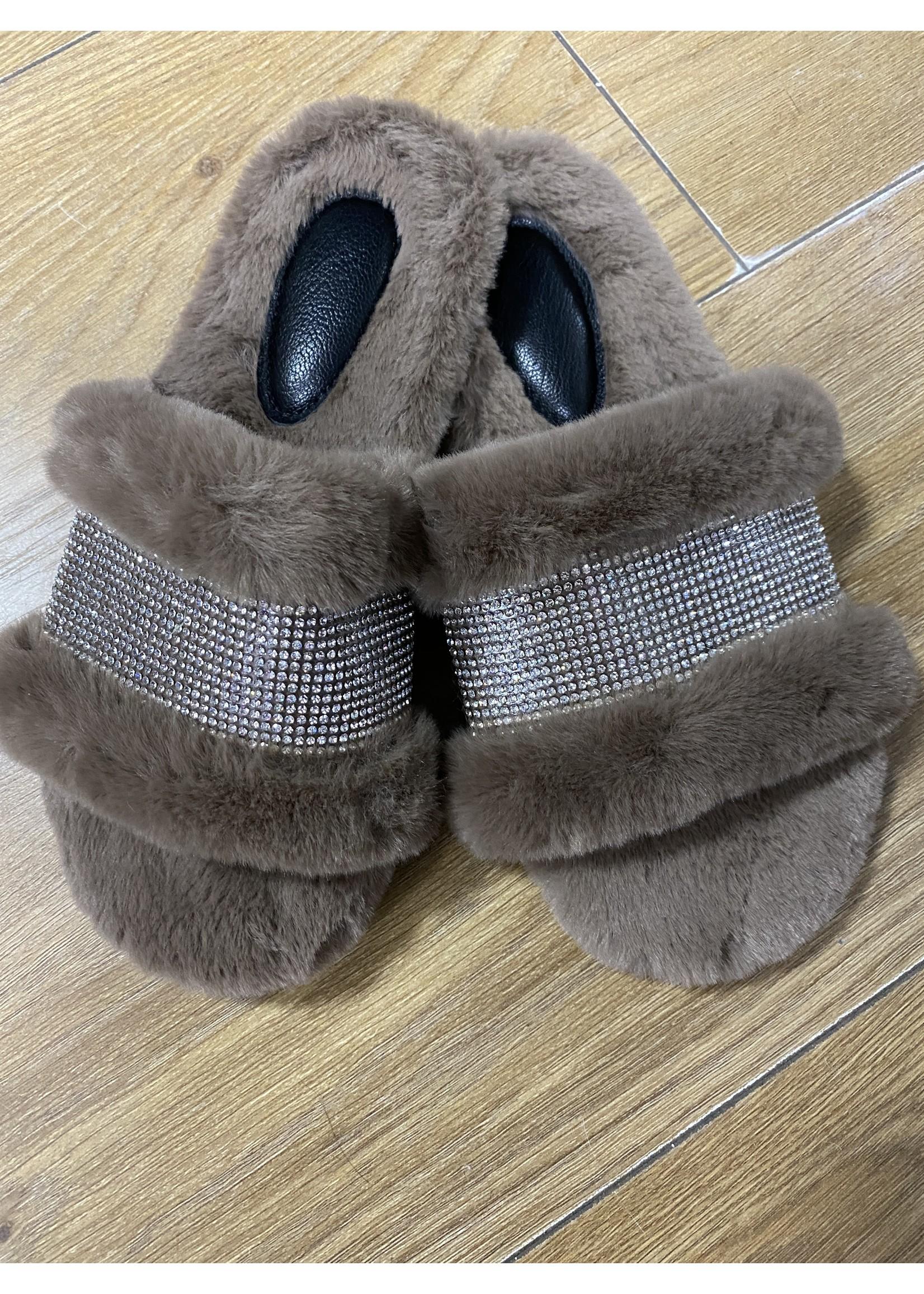 Diamanté slippers