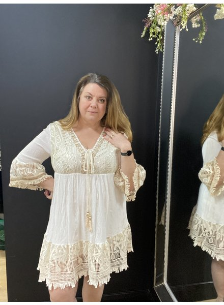 Amelie gold thread dress