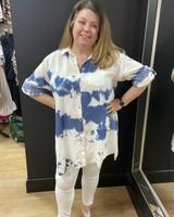 Tie dye denim shirt