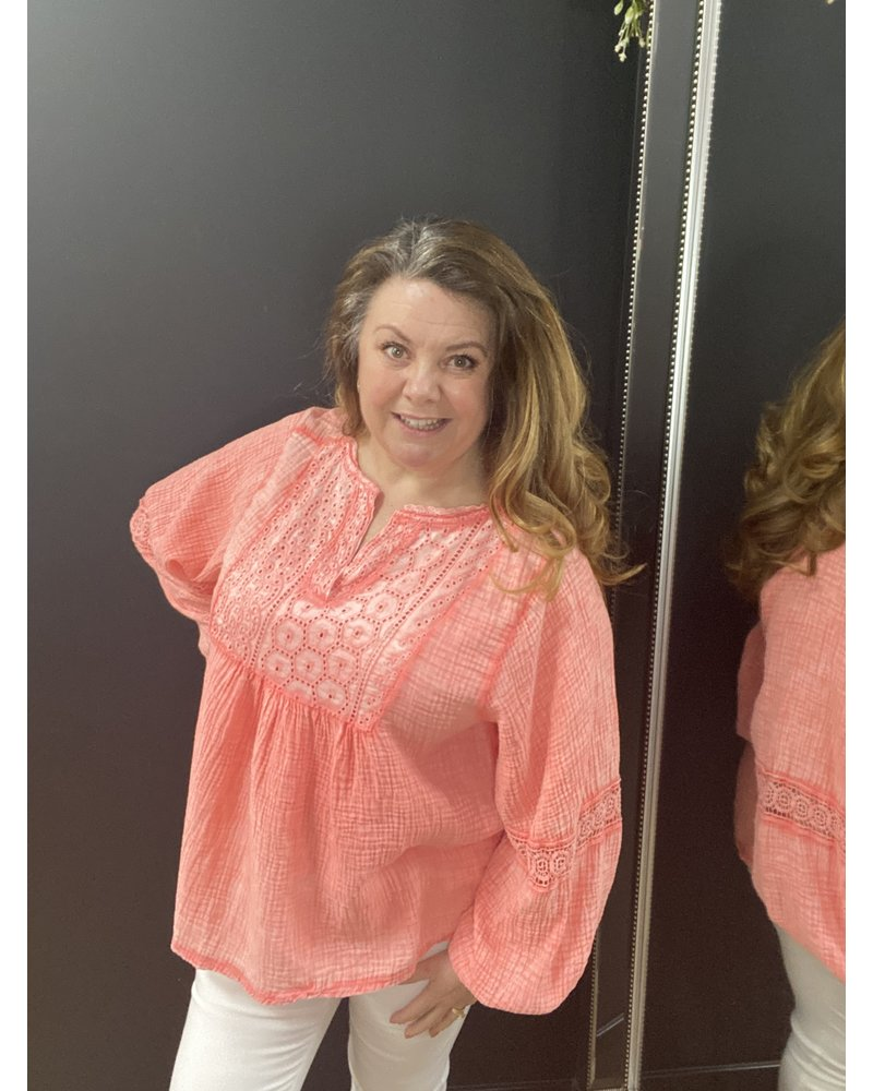 Bryony broderie anglaise top