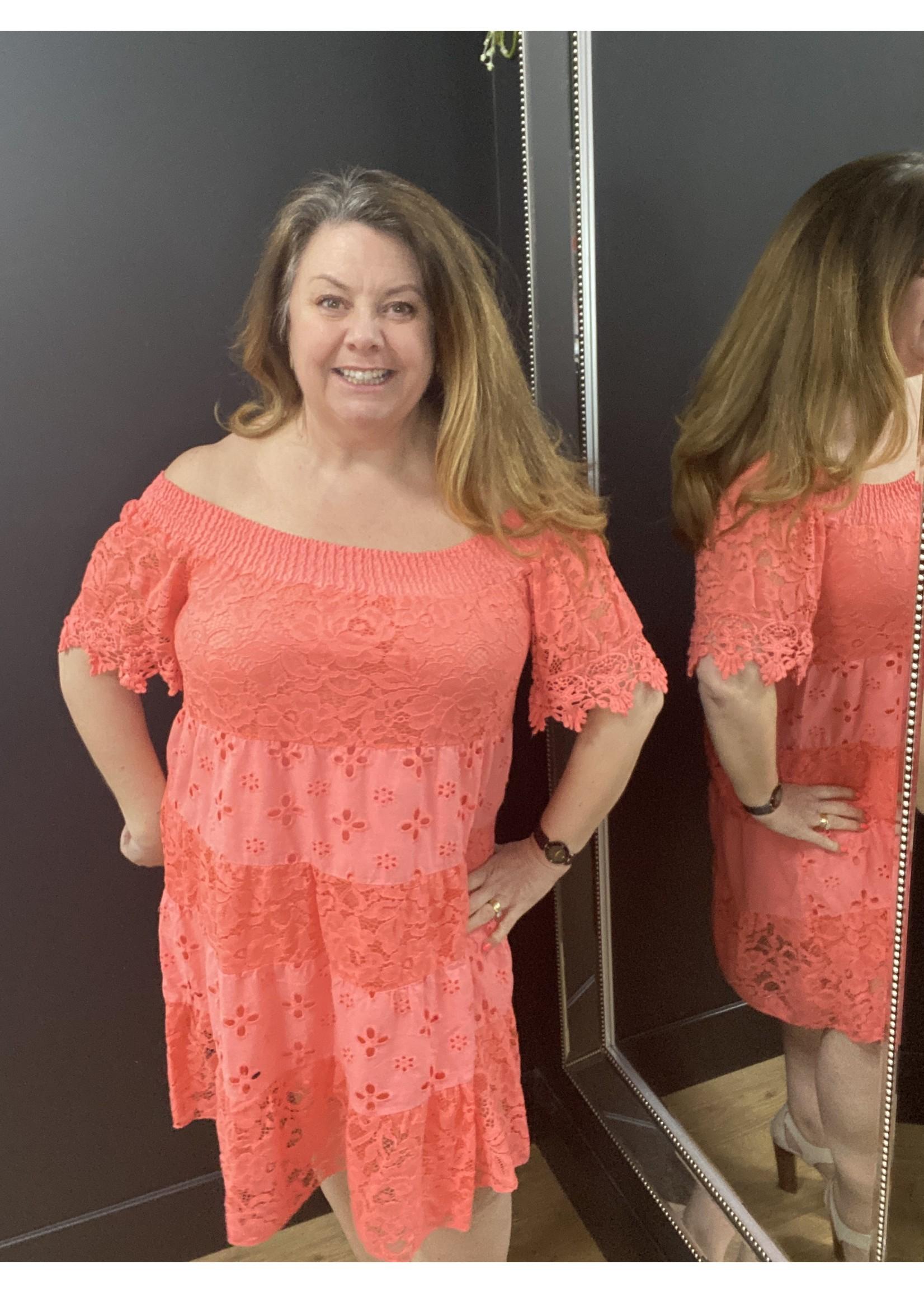 Indie Bardot lace dress