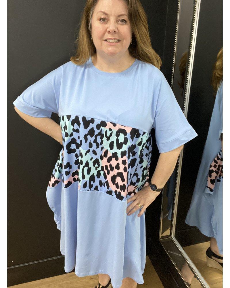 Vix leopard parachute dress