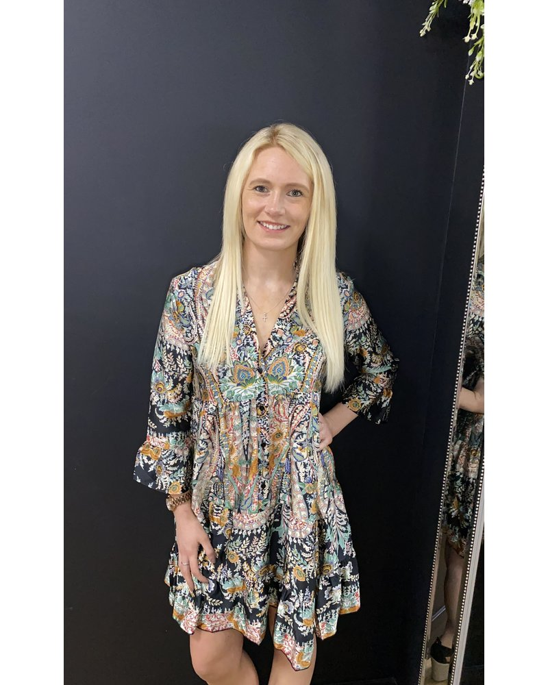 Kelsey tiered paisley dress