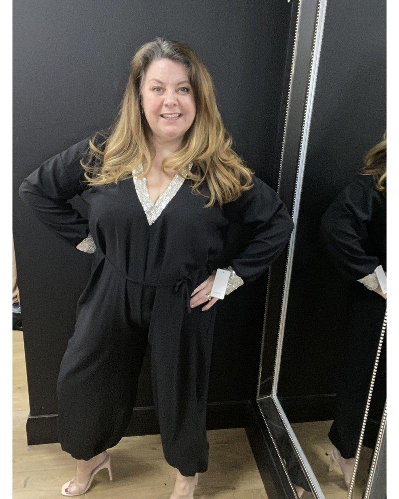 Jennifer cuff leg sequin embellished jumpsuit