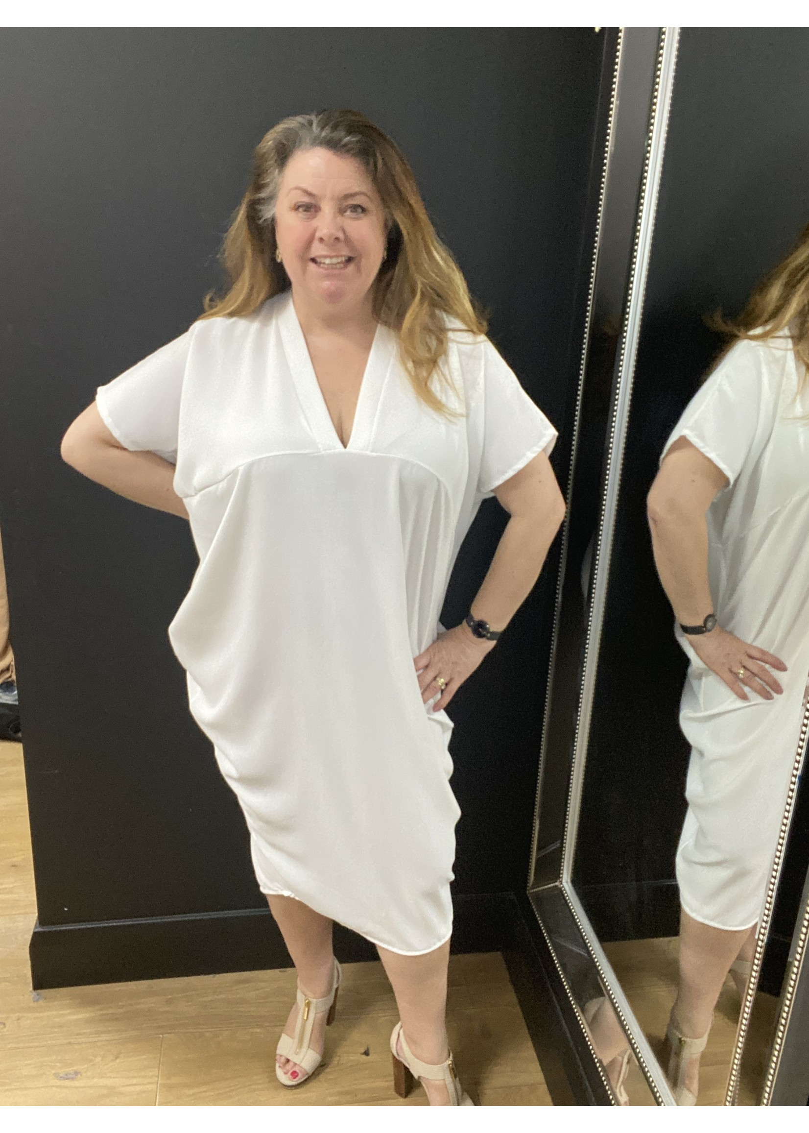 Nicole V Neck loose fit shift dress